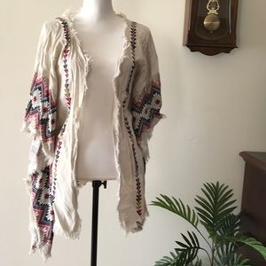 Free People Tribal Kimono Cover Up Top OS Nwot